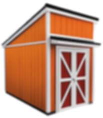 縦目外壁のモトベース小屋