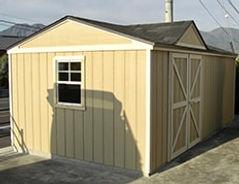 広い収納スペースの物置小屋です。