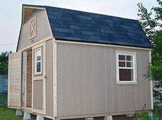 素敵な屋根の小屋です。
