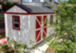オリジナルカラーの物置小屋です。