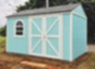 丸窓が付いたブラッドフォードという小屋です。