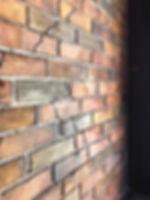 モルタル造形のレンガ壁です。