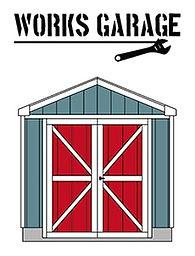ワークスガレージはバイク2台用です。