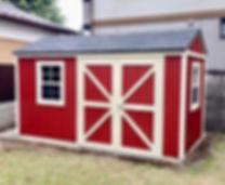お庭に小屋があるとおしゃれです。