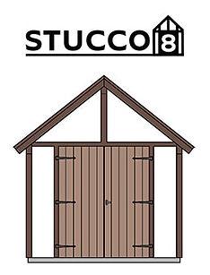 スタッコ8は欧風な物置小屋です。