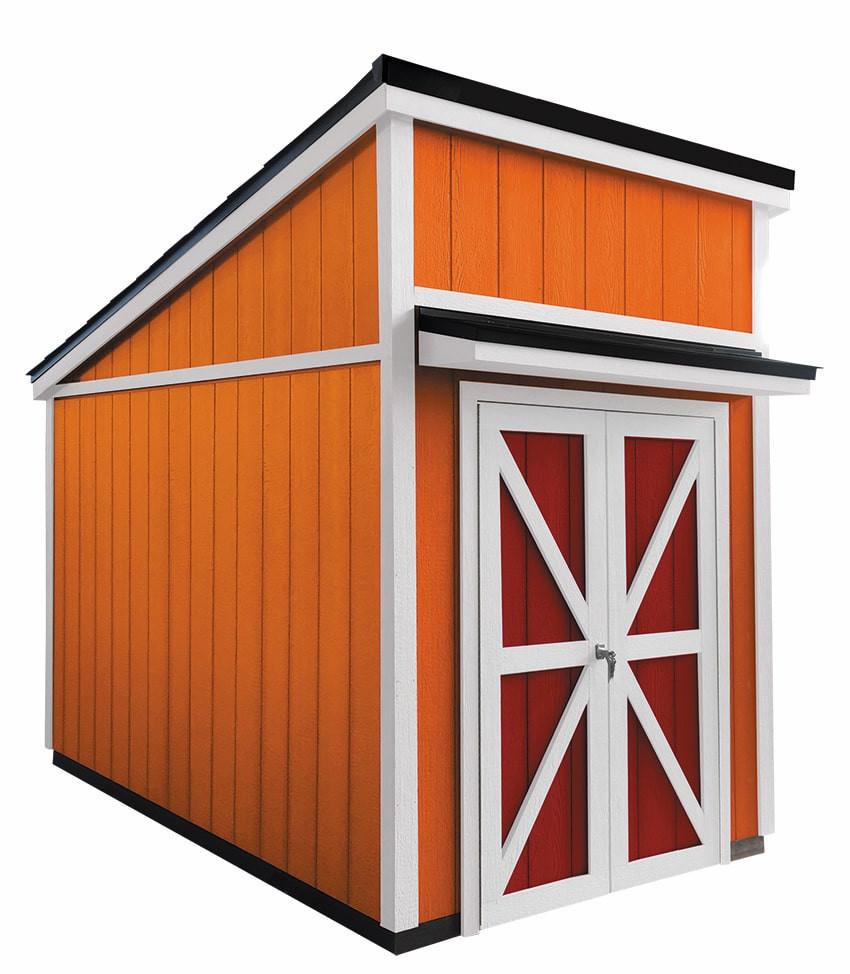 グリーンベルのバイクガレージのモトベースは片流れ屋根のおしゃれな秘密基地や隠れ家として、または物置小屋としても使用できる便利なガレージなのです。