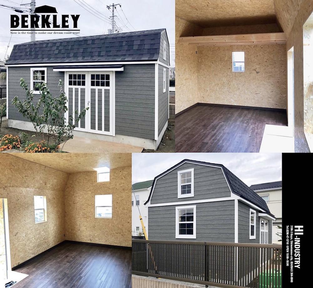 グリーンベルの大きい物置小屋として人気のバークレーは、おしゃれな大型物置やガレージとしてガーデニング用具やバイクの収納、またはアトリエや工房にぴったりな大きさです。