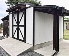 日本風のDIY物置小屋キットです。