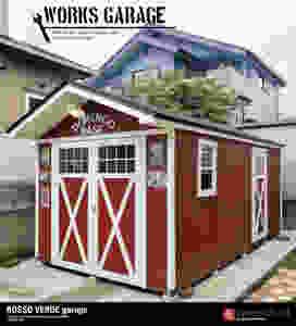 バイクガレージのワークスガレージはバイク2台を収納できて、おしゃれな秘密基地として隠れ家として、または物置小屋としても使用できる便利なガレージ小屋なのです。