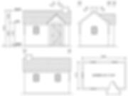 イロドリ小屋立面図平面図