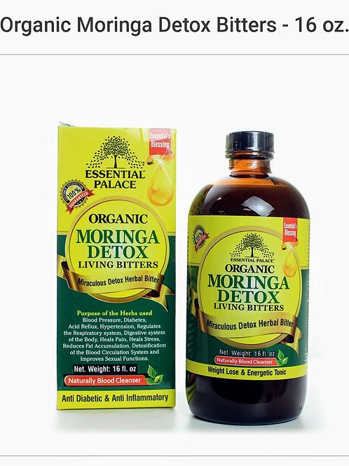 Organic Moringa Detox Bitters 16 oz.