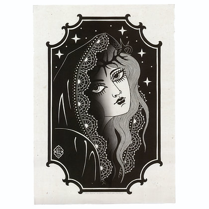 Shadows Of The Night - B - two layer linocut print