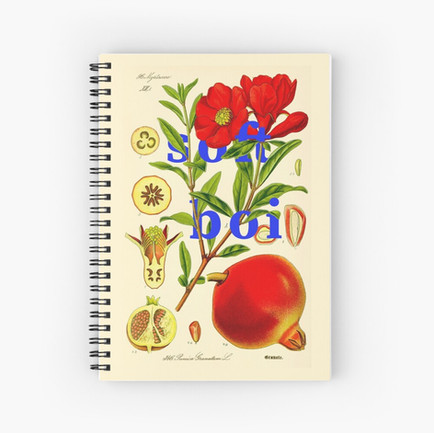 Soft Boi Botanical Collage Spiral Notebook