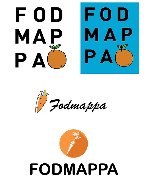 Different Versions of FODMAPPA initial logo designs