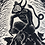 Thumbnail: Velnakmens - linocut misprint