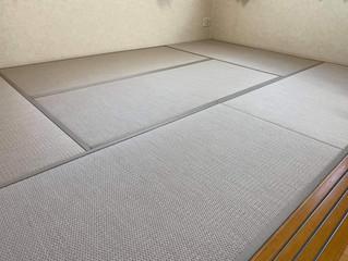 縁付き畳 / ダイケン小波 和紙表 灰桜色