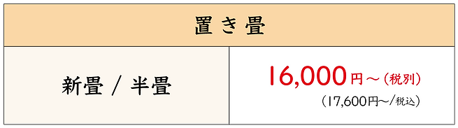 愛知県碧南市,角谷畳店,畳屋,畳替え,畳リフォーム,価格,料金,置き畳