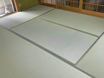新畳:縁付き畳(熊本県産畳表)