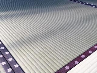 ひのさくら 梅模様畳縁 ヘリ付き畳