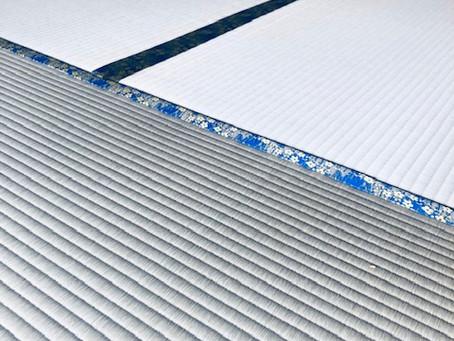 麻綿二番草、絞り目2.6キログラムの畳表とオリジナル縁、豊壽でコーディネイト
