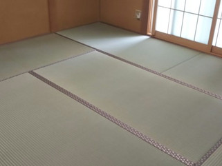 畳入替え時発覚した床板不具合を修復