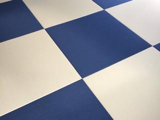 和紙表 清流藍色×清流乳白色