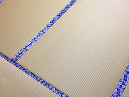 初めから焼けているように見える畳ですが、綺麗な焼け色を演出