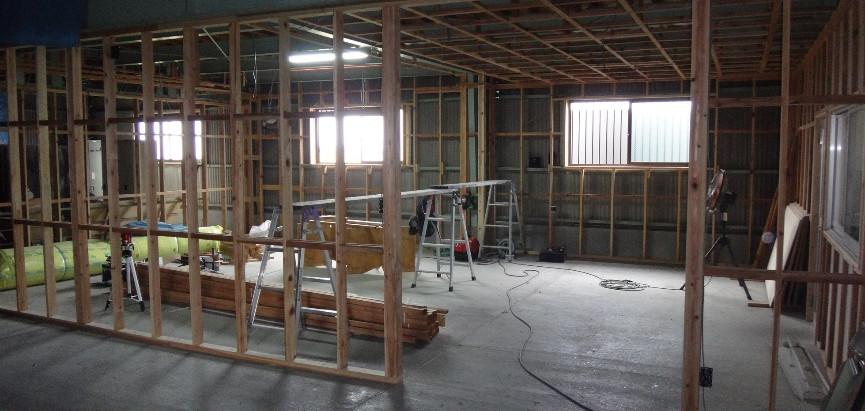 い草製品の展示場と商談部屋の製作