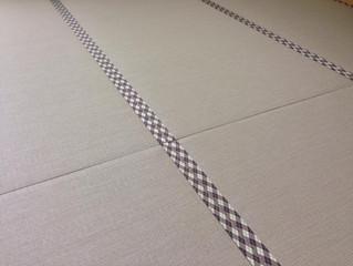 樹脂製畳表 アーガイル柄畳縁 ヘリ付き畳
