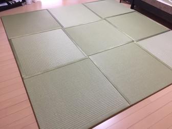 出し入れ自在の置き畳でフローリングも快適に!