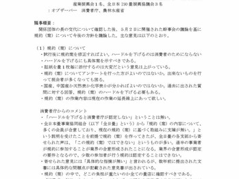 畳類公正競争規約作成連絡会 第15回 幹事会 概要