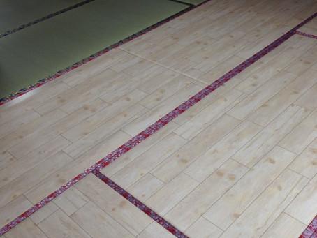 一部屋でタタミdeフローリングの洋間と畳をあわせてみました
