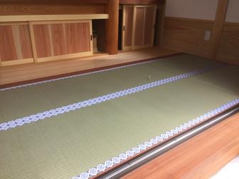 白中紋縁を付けたお寺の畳