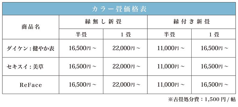 三重県亀山市,大平畳製造所,畳屋,畳店,価格,料金,畳替え,カラー畳
