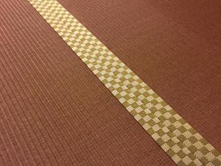樹脂表 ダークブラウン色 市松模様畳縁