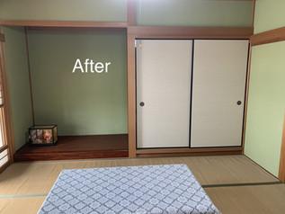 壁の塗り替えと襖の張替え