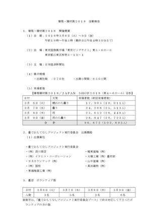 建築・建材展2018 活動報告