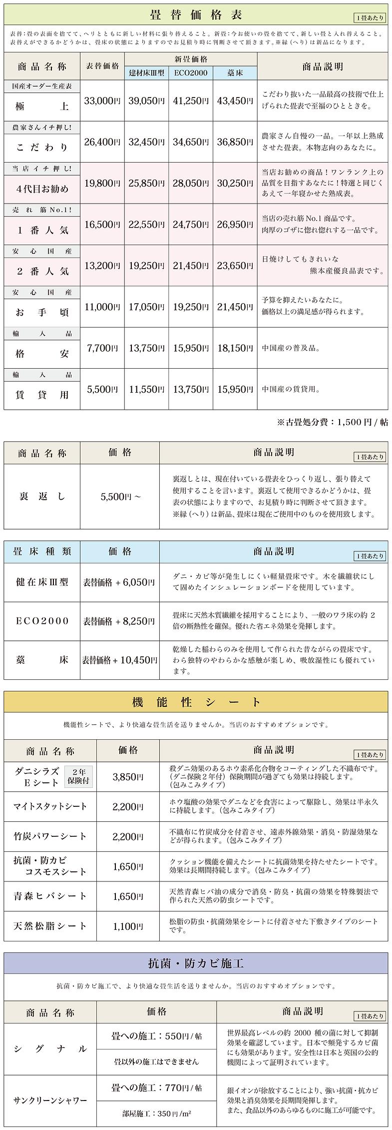 三重県亀山市,大平畳製造所,畳屋,畳店,価格,料金,畳替え,畳リフォーム
