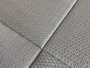 織り方が特徴的なヘリなし畳を納品しました