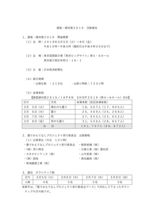 建築・建材展2019 活動報告