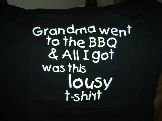 Grandma went to the BBQ...
