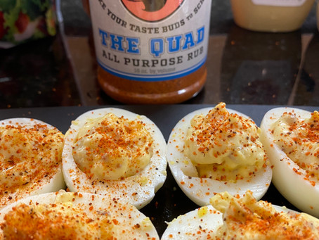 University of Que Style Deviled Eggs