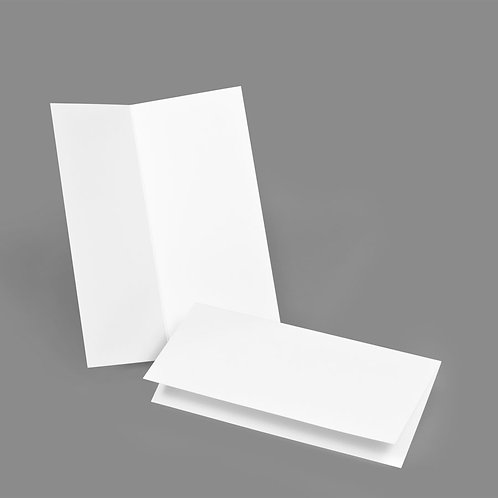 Folded Card - Classic 4x9 Landscape