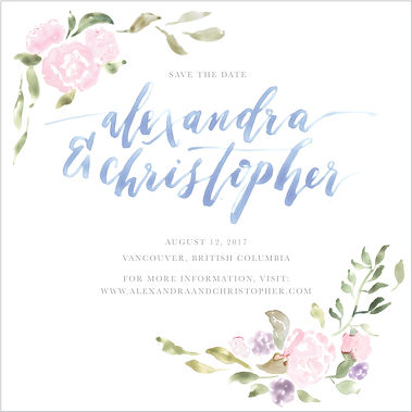Custom Watercolour Save The Date