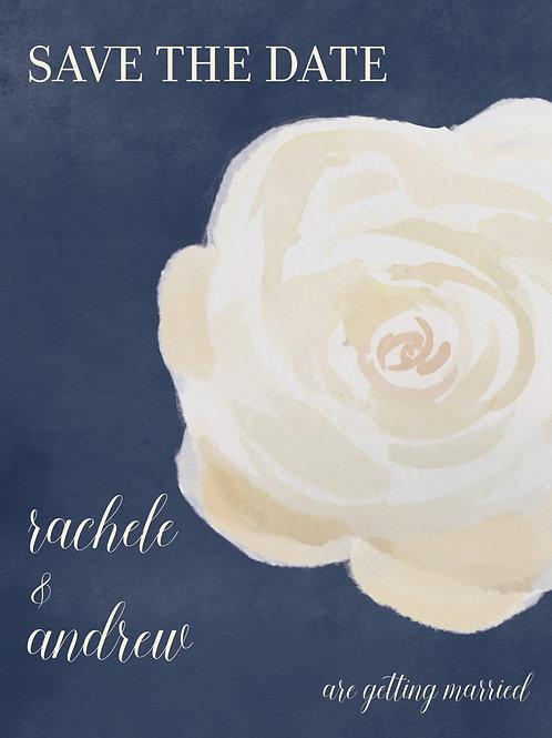 Navy Rose Bloom