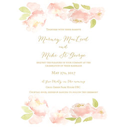 Custom Watercolour Invitations