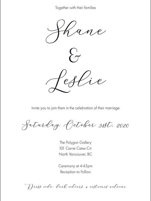 Leslie Invitation