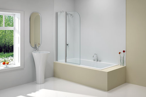 MERLYN VIVID BATH SCREEN 900MMx1500MM CURVED 2 PANEL