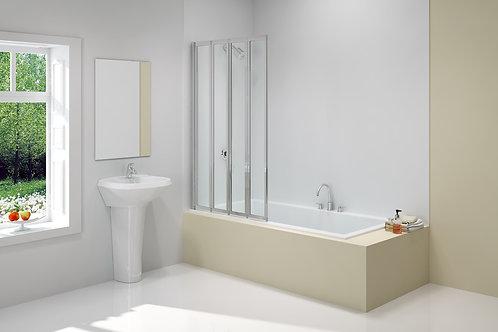 MERLYN VIVID BATH SCREEN 850x1400MM 4 FOLD