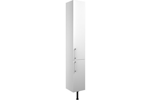 ALBA 300MM 2 DOOR TALL UNIT WHITE GLOSS